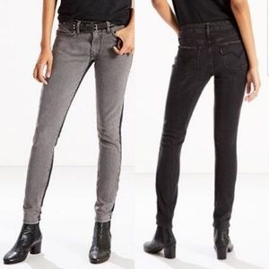 Levis 711 Skinny Jeans 2 toned Inseam 30 Gray